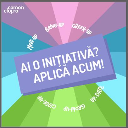 Apel pentru propunerea unor inițiative comunitare în cadrul Com'On Cluj-Napoca '19